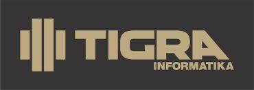 TIGRA logo HU fekete alap arany logo